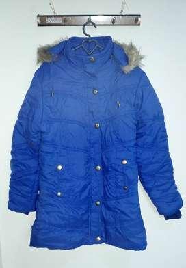 Jaket Winter Biru Panjang
