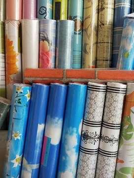 Wallpaper sticker ukuran45cm x 10meter