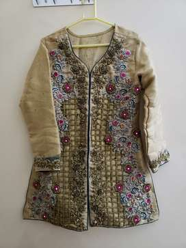 Hand embroidered coat style