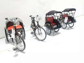 Miniatur Motor Sepeda Becak
