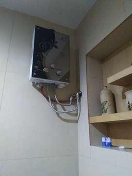 Shower water heater gas