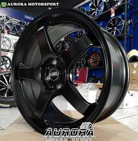 Jual pelek racing Kijang LGX, Veloz ring 17 tipe Tendon HSR black