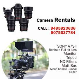 Rent -Sony A7s2 camera , Rokinon lens