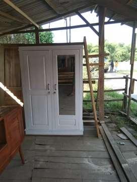 lemari 2 pintu jati asli