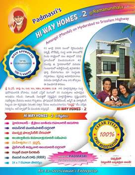 Best opportunity to buy a plot at srisailam highway