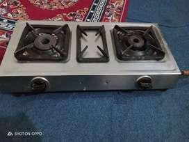 Jyoti gas 2 burner gas stove
