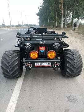 Open modified Hunter Willys jeeps jonga