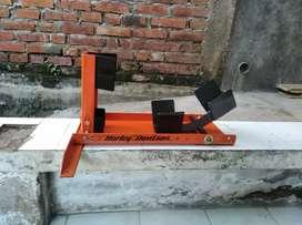 wheel clock peadok pedok sandaran roda depan harley moge