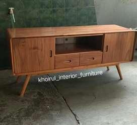 Bufet tv retro material kayu jati .