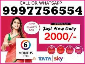 Guwathi Tata Sky New Box + 6 Month Pack Only 2000/- Dish Tatasky