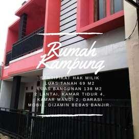 Rumah Kampung 2 Lantai, KT 4, KM 2, Harga 500Jutaan