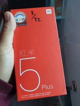 Xiomi Redmi 5 plus 3/32 lengkap