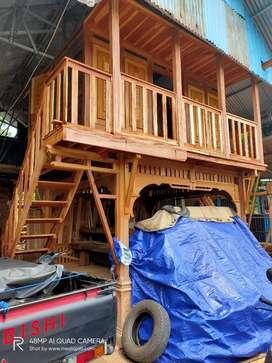 Rumah Kayu Panggung 2 Lantai