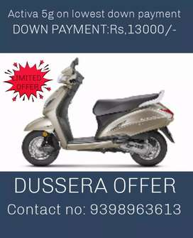 New activa on bank finance ( only for hyderabad)