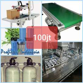 100jt mesin pabrik air gelas cup sealer otomatis 4 line serta 5 item