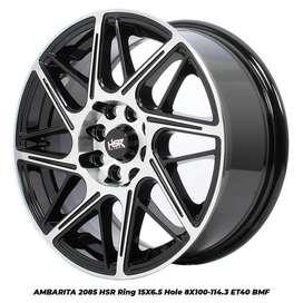 Velg Mobil Racing AMBARITA 2085 HSR R15X65 H8X100-114,3 ET40 BMF