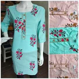 Cotton printed kurti low price available