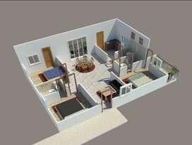 Flat for sale at adibatla 2200/- per sft