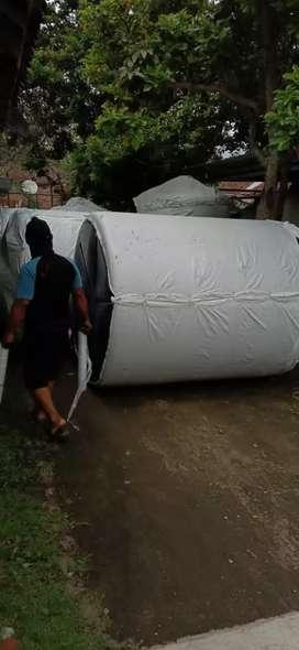 Gudang tandon 200 toren 2000 liter hdpe bahan plastik tiga lapis
