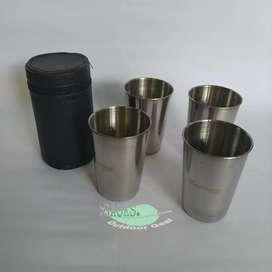 gelas set stainless chanodug - gelas outdoor - gelas kopi