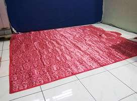 Karpet Tikar Lantai Plastik Piknik Tamasya Camping Lipat Tas, Bisa COD