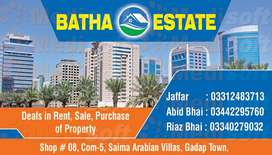REQUIRE BUNGALOWS / FLATS/ PLOT on sale / rent in SAIMA ARABIAN VILLAS