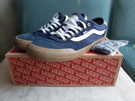 Sepatu vans chima pro 2 size 46 navy/gum/white like new no minus murah