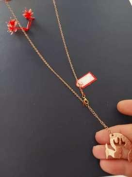 Kalung  titanium 18 k ,lapis emas