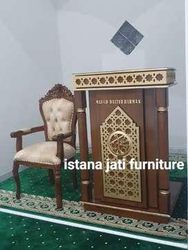 Mimbar masjid khutbah masjid podiuum mimbar kayu jati
