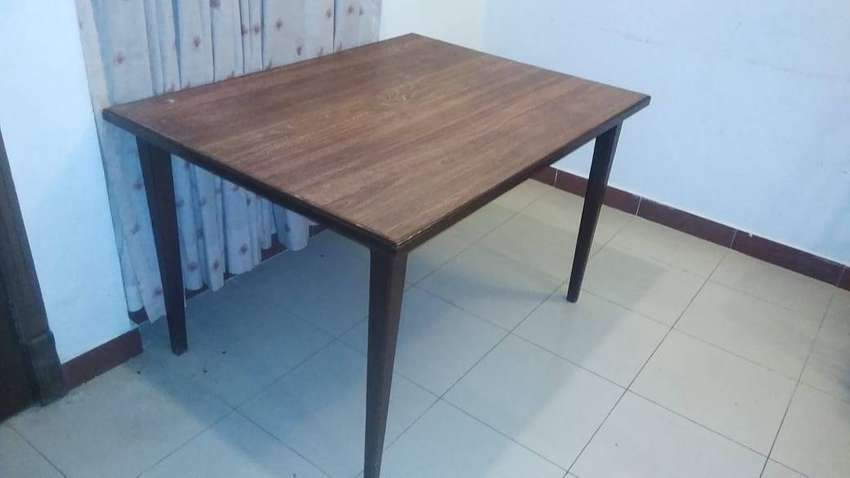 2 Chairs  + Wooden Dining Table