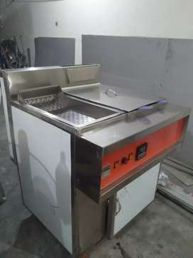 Fryer 3 tube with sizzling full auto bolwer model double basket