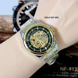 Jam tangan automatic tanpa batrai elegant mewah