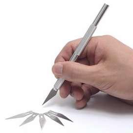 Pen Cutter Atau Pisau Metal Presisi untuk Ukir / Airbrush