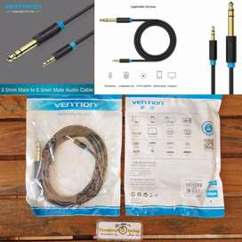 Meter BAB Vention Kabel jack Audio Aux 6.5mm Male to 3.5mm Male 3.5mm