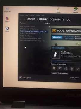 Jual BU akun Steam ada PUBG dan  Rainbow Six Siege Deluxe edition