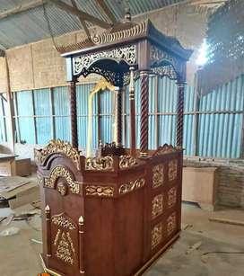 mimbar masjid kubah terbaru