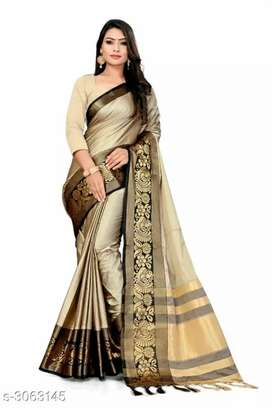 Stunning cotton silk women's sarees