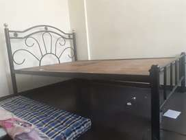 4×6 Dismantable Bed along with 2 cotton mattress and Wardrobe