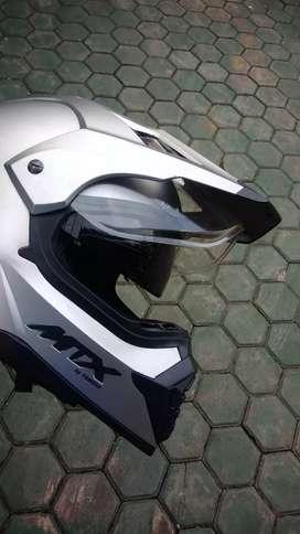 Helm MTX by Yamaha trail supermoto fullface doble visor,
