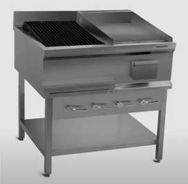 Hotplate 2 feet 1 feet burger grill gas based with stone