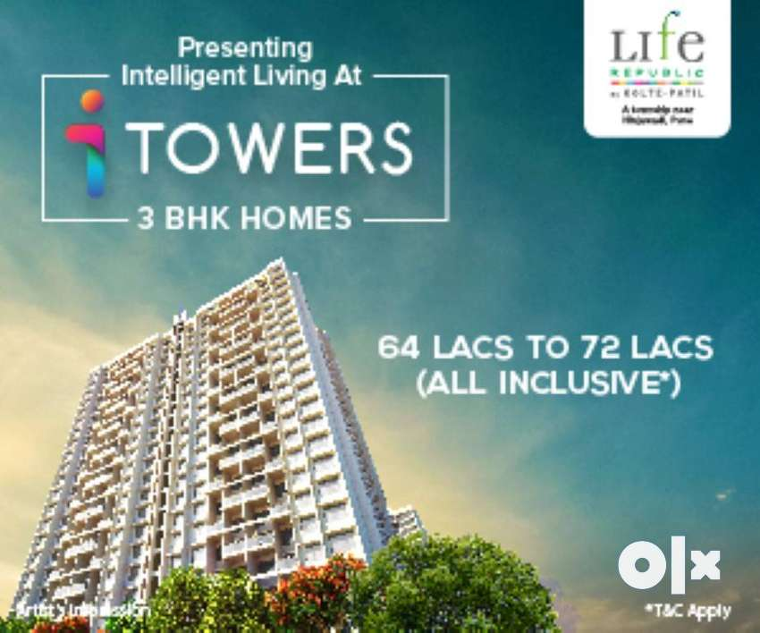 3 BHK Apartment for Sale in Hinjewadi at Kolte-Patil Life Republic 0