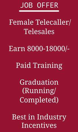 Female Telecaller/Telesales
