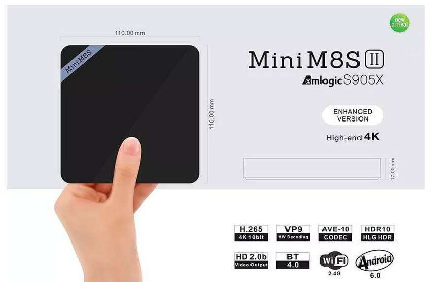 Beelink Mini M8S II 2GB WiFi bluetooth 4K Android TV Box Mini PC 0