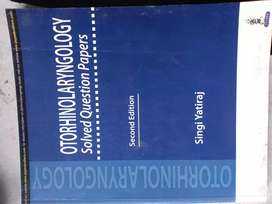 Otorhinolaryngology (ENT) solved question paper second edition