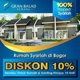 Rumah Syariah Balad Progress Cepat dekat toll Sentul-Parung-Antasari