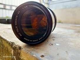 Lensa Minolta Manual 135mm f2.8 MC Tele Rokkor PF MD mount w/ adapter