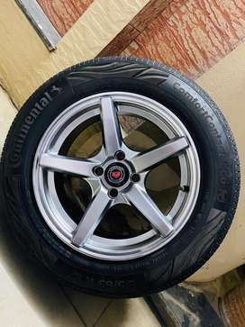 Alloy Wheels 195/65/R15 Continental tyre voseen rim for sale 4 Nuts❤️