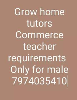 Commerce teacher requirements for male