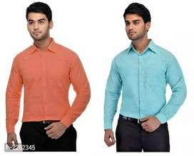 Men's Pure Cotton Shirt Pack of 2