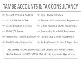 Need Female Account & Tax Assistant required